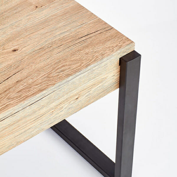 Правоъгълна холна маса в цвят дъб сан ремо-снимка крак