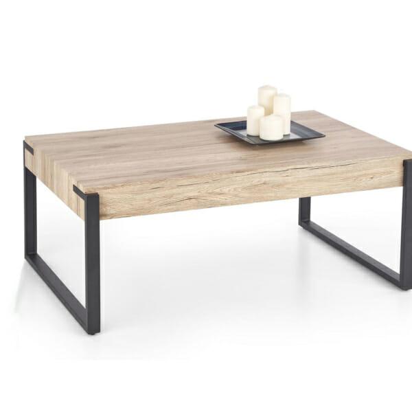 Правоъгълна холна маса в цвят дъб сан ремо
