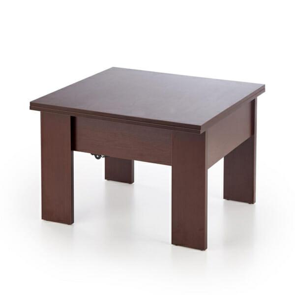 Разтегателна холна маса с повдигащ механизъм-цвят тъмен орех