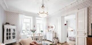 Светъл преходен апартамент с кокетен интериор