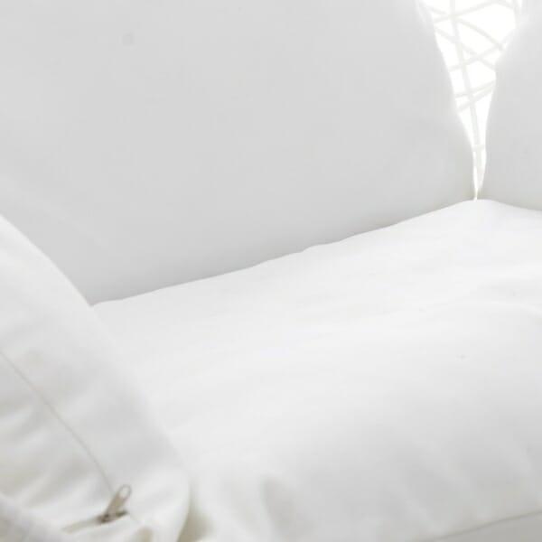 Сферичен бял висящ стол на стойка - седалка