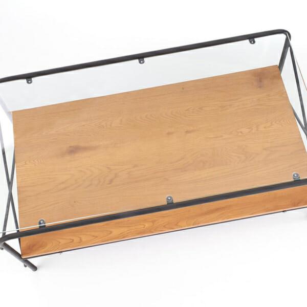 Холна маса със стъклен плот Кристина-снимка отгоре