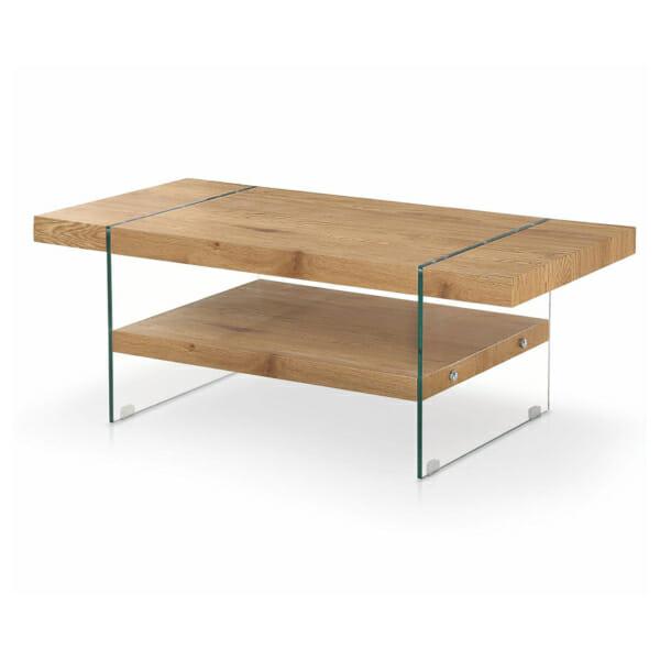Холна маса с два плота и крака от стъкло