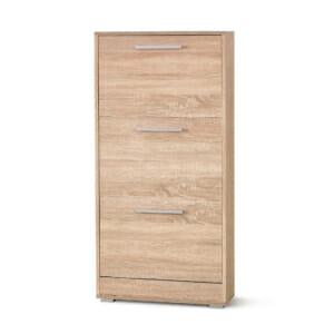 Шкаф за обувки в цвят дъб сонома с 3 отделения