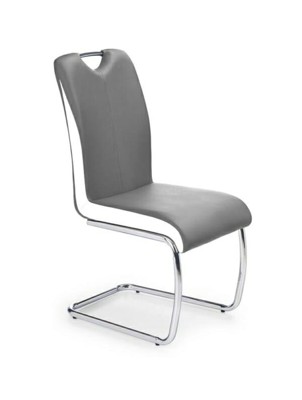 Трапезен стол от еко кожа в кафяво и бежово (2 варианта)