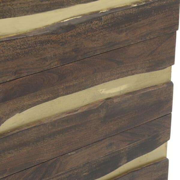 Висок дървен шкаф с 5 отделения Golden Mango