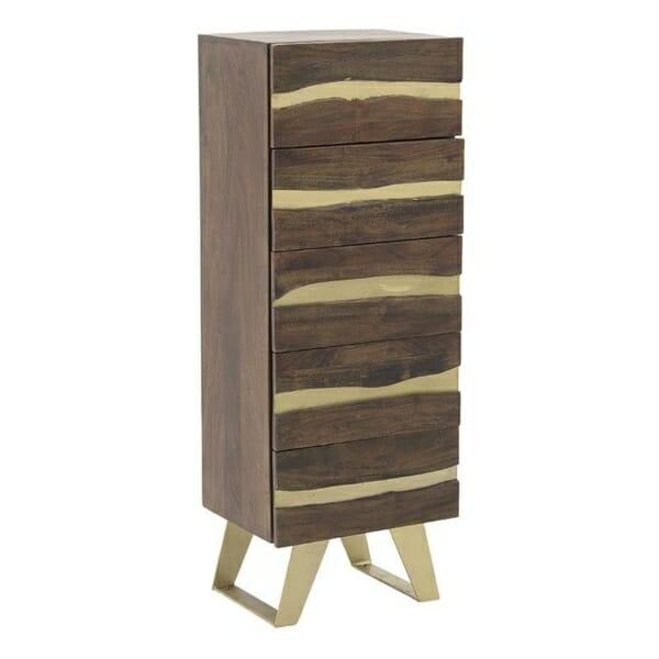 Висок шкаф с 5 чекмеджета серия Golden Mango