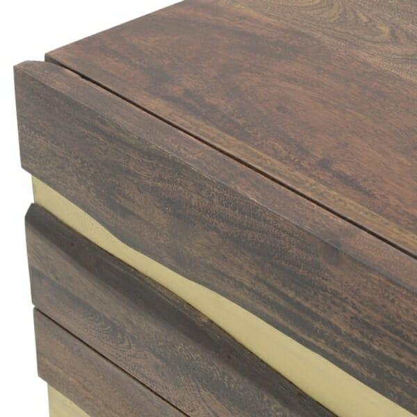 Дървен скрин със златна декорация серия Golden Mango