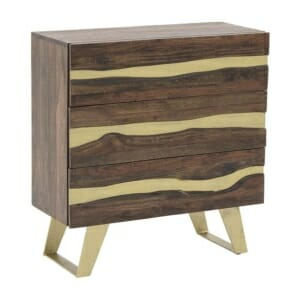 Дървен скрин с 3 отделения серия Golden Mango