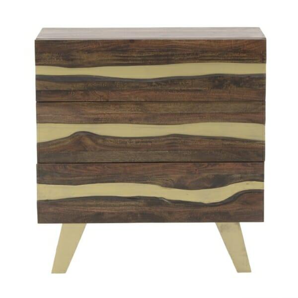 Дървен скрин с 3 чекмеджета серия Golden Mango