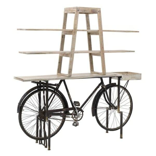 Етажерка колело в индустриален стил