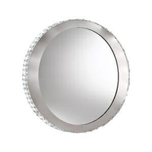 Кръгло LED огледало с кристали серия Toneria