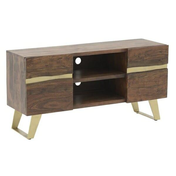 Луксозен ТВ шкаф от дърво и метал серия Golden Mango