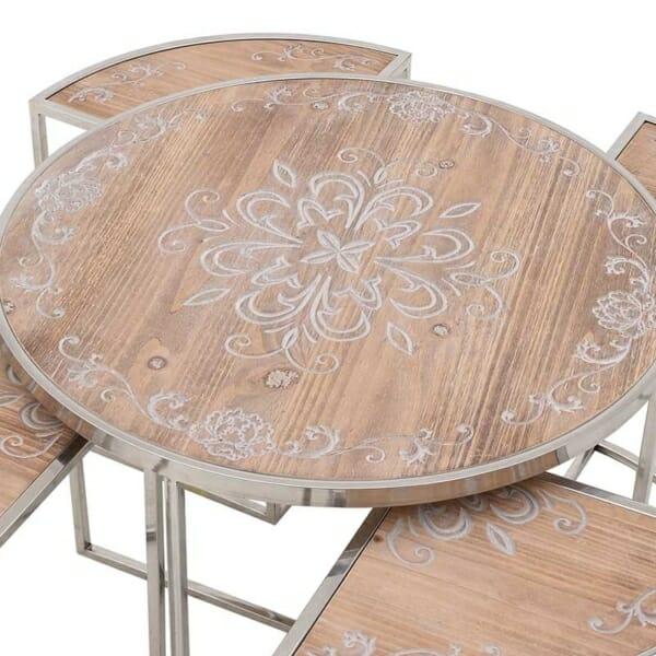 Помощна маса с декориран плот