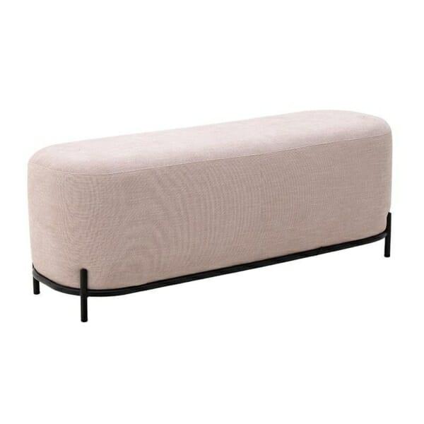Текстилна пейка с черна основа - сьомга
