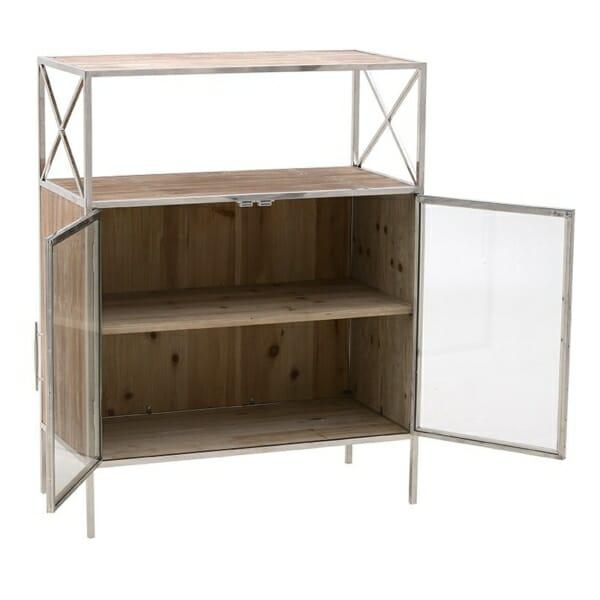 Шкаф витрина с 4 рафта със и без вратички