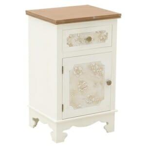 Нощен шкаф с едно голямо отделение и чекмедже Flora