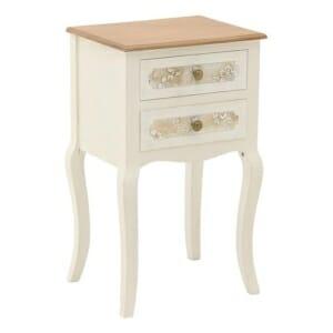 Нощен шкаф Flora с 2 чекмеджета и издължени крака