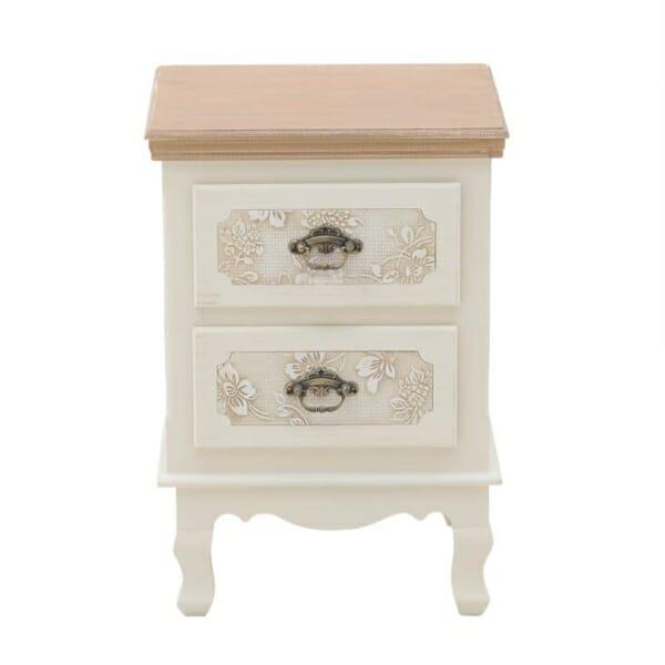 Нощно шкафче с крачета и две чекмеджета Flora