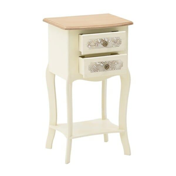 Нощно шкафче с рафт и две чекмеджета Flora