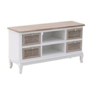 ТВ шкаф в бяло и светло дърво серия Rustic