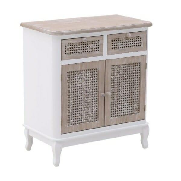 Шкаф в бяло и естествено дърво серия Rustic