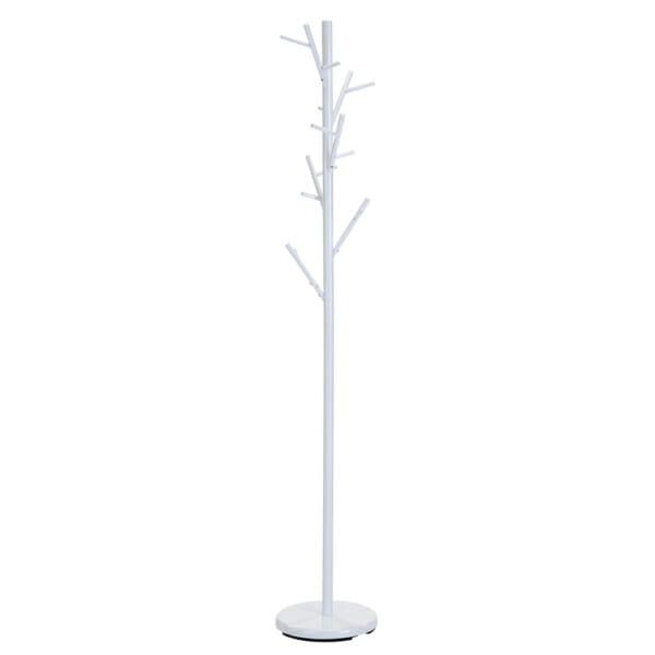 Бяла метална закачалка като дърво с клони
