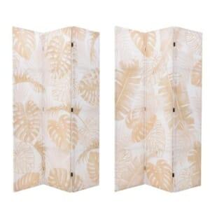 Декоративен параван с палмови листа в бежово