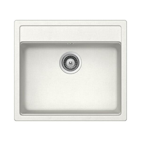 Компактна бяла мивка за кухня SCHOCK Nemo N100 цвят Alpina