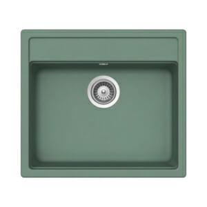 Компактна зелена мивка за кухня SCHOCK Nemo N100 цвят Sage