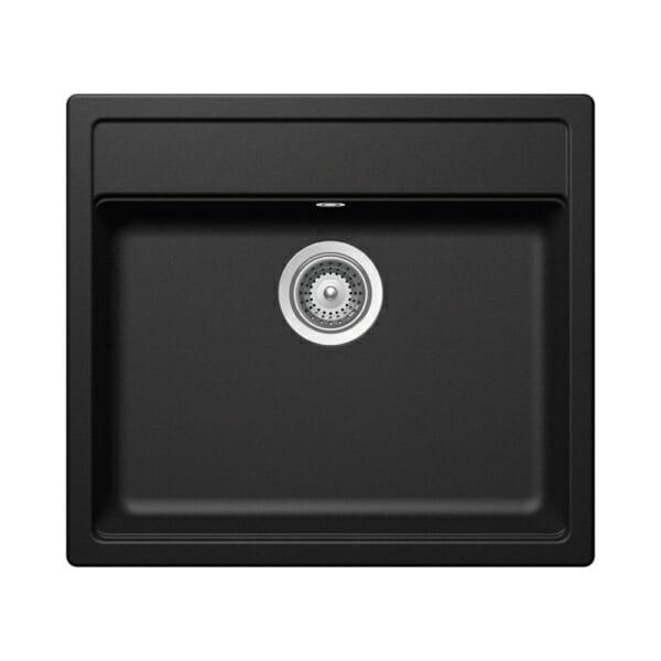 Компактна черна мивка за кухня SCHOCK Nemo N100 цвят Volcan