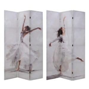 Двулицев параван с танцуващи балерини