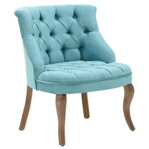 Класическо кресло с мека дамаска и дървени крака (4 цвята)