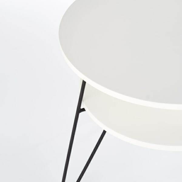 Кръгла холна маса в бяло