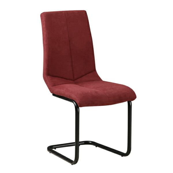 Елегантен трапезен стол с дамаска в цвят бордо