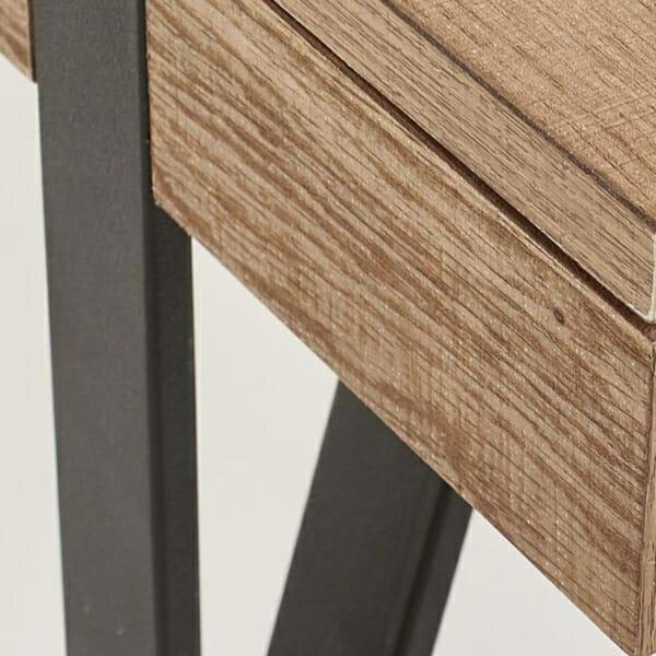 Елегантна холна маса от дърво с чекмеджета-детайл