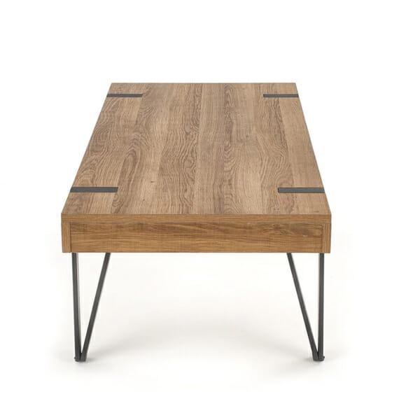 Елегантна холна маса от дърво с чекмеджета-странично