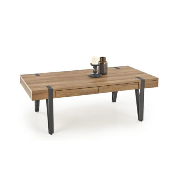 Елегантна холна маса от дърво с чекмеджета
