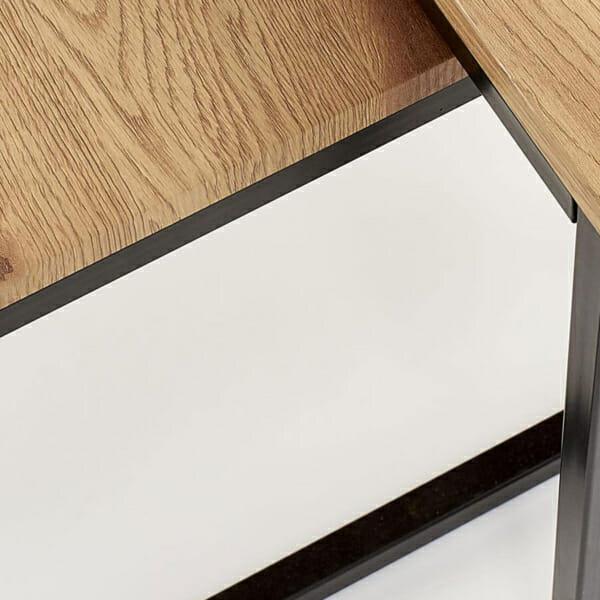 К-т от 2 правоъгълни холни маси в индустриален стил-детайл