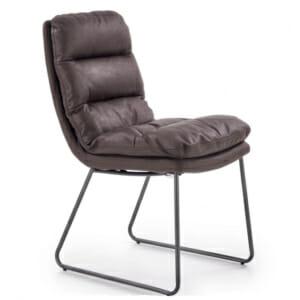 Мек трапезен стол с метални крака в индустриален стил