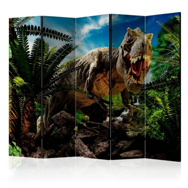 Декоративен параван с тиранозавър в джунглата