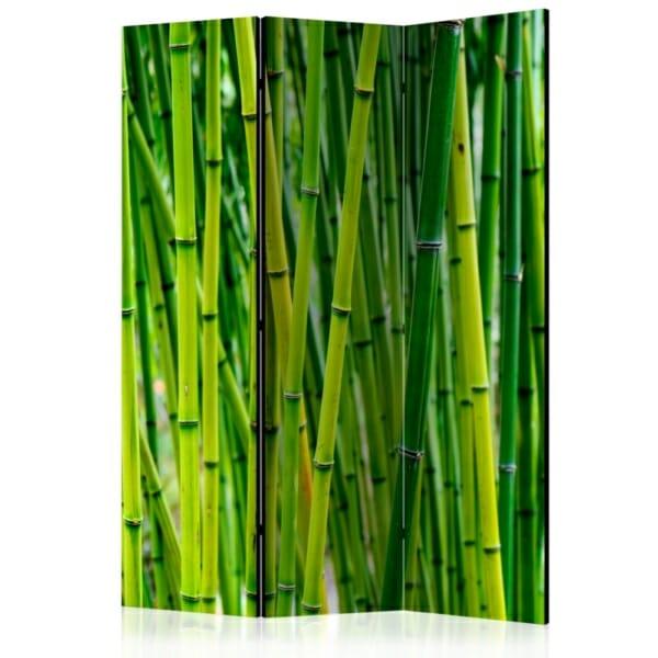 Сгъваем декоративен параван за стая с бамбук - 3 крила