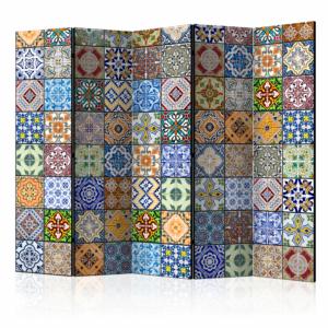 Двулицев декоративен параван Colorful Mosaic -5 крила