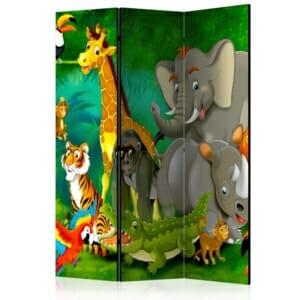 Параван за детска стая с анимирани животни