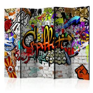Двустранен декоративен параван с графити