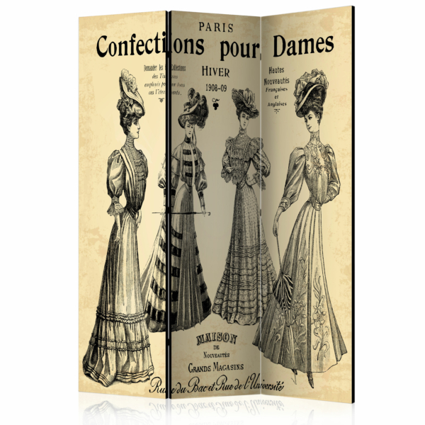 """Трикрилен параван за стая """"Confections pour Dames"""""""