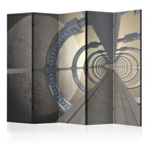 """Двустранен параван за стая """"Космически тунел"""" - 5 крила"""