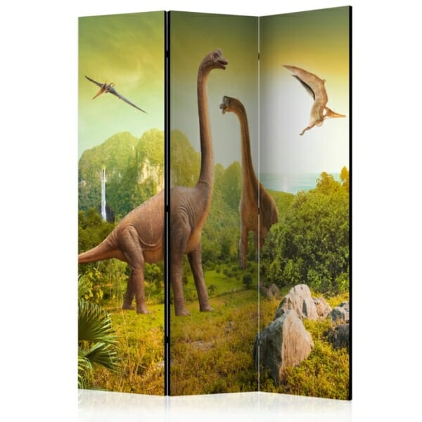 Декоративен параван с динозаври - 3-крилен