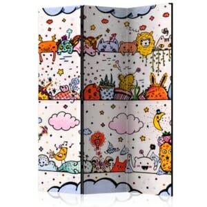 """Декоративен параван за детска стая """"Funny animals"""""""