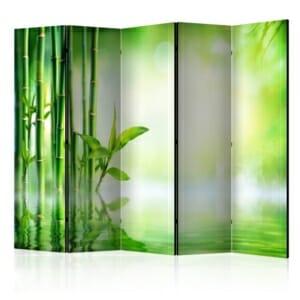 Декоративен параван с изображение на бамбукови дървета-петкрилен
